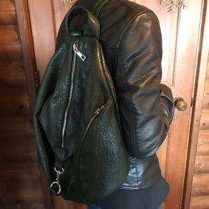 Handbags - Green Leather Backpack